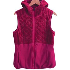 North Face Women's Reversible Pink Quilted Fall/Winter Vest Large